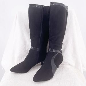 Impo Nayda Faux Trim 80's Knee Boots